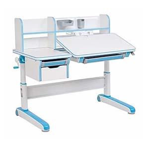Biurka regulowane dla dzieci - biurko Fundesk Libro blue