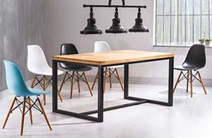 Meble do stylu skandynawskiego - stół Loras A i krzesła Enzo