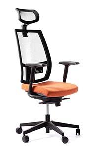 Fotel dla wysokich osób - fotel Bakun Foxtrot Net