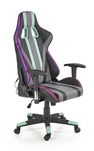 Kolorowe krzesła gamingowe - fotel gamingowy Halmar Factor