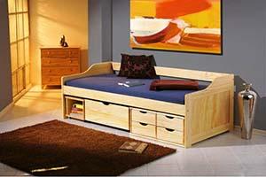 Wymarzony pokój młodzieżowy na poddaszu - łóżko młodzieżowe Halmar Maxima 2