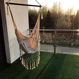 Jaki hamak wybrać na ogród i na balkon? - Fotel hamakowy Koala HC11p ecru