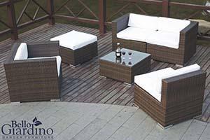 Zestaw wypoczynkowy do ogrodu - Zestaw mebli ogrodowych Bello Giardino Discreto