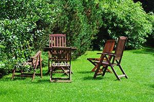 Zestaw wypoczynkowy do ogrodu - Zestaw mebli ogrodowych drewnianych