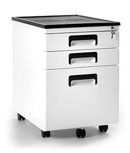 Zabezpieczenie dokumentów w firmie w szafkach metalowych - Kontener biurowy Unique 324-W