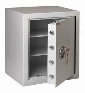 Zabezpieczenie dokumentów w firmie w szafkach metalowych - Sejf gabinetowy Polaszek MNO-55