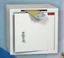 Zabezpieczenie dokumentów w firmie w szafkach metalowych - Sejf ze szczeliną wrzutową Polaszek IC-1