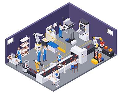 Ergonomia stanowiska pracy - stanowiska w firmie produkcyjnej