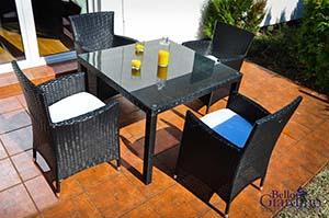 Meble całoroczne na taras - zestaw mebli stołowych Bello Giardino Pazzo