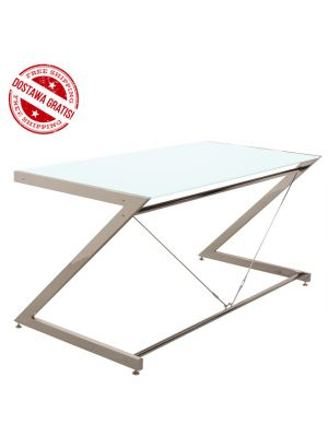 Biurko Z-line - Chrom - Main Desk White, NEGOCJUJ CENĘ