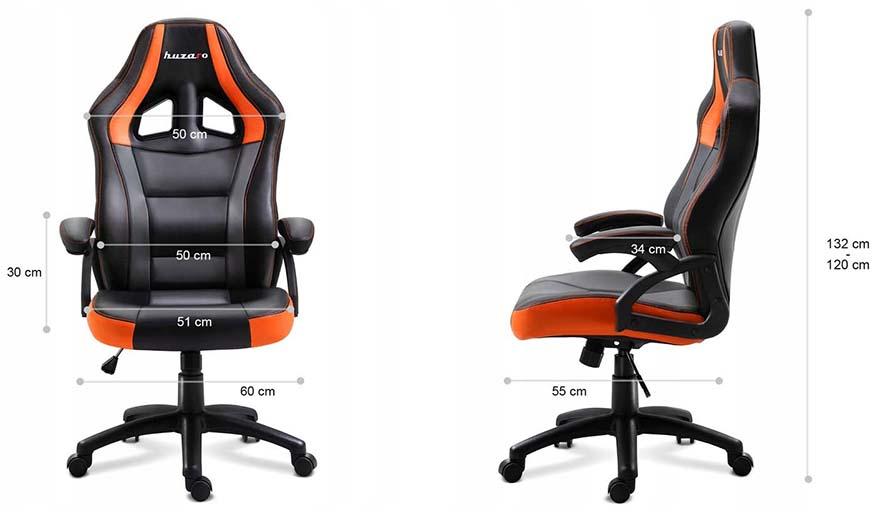 Fotel gamingowy Huzaro Force 4.2 orange - wymiary